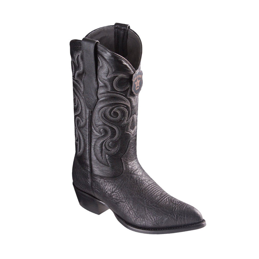 Los Altos Boots J-Toe Bull Shoulder Black