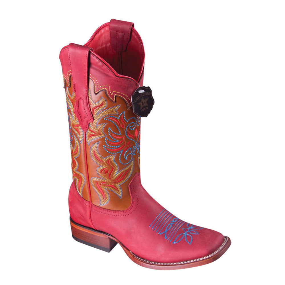 Los Altos Boots Women's Rodeo Toe Fuschia