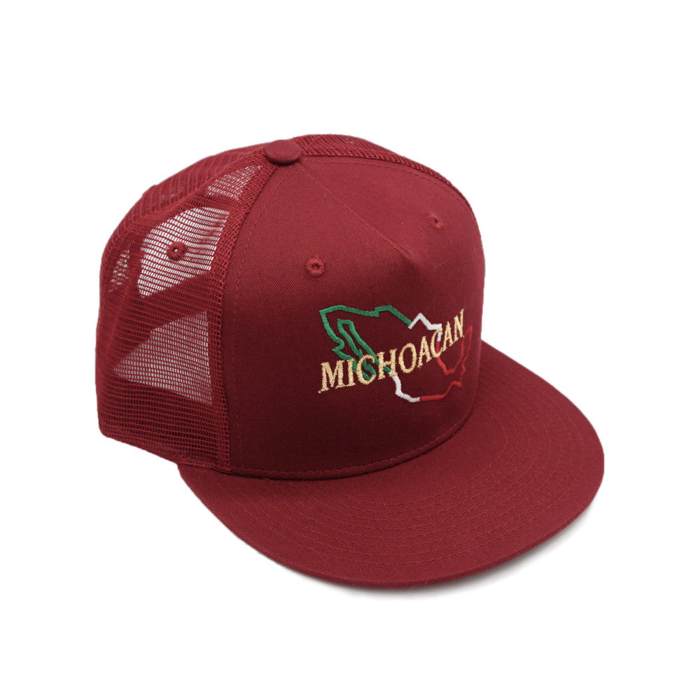 Mexican States Mesh Snapback Cap - Red
