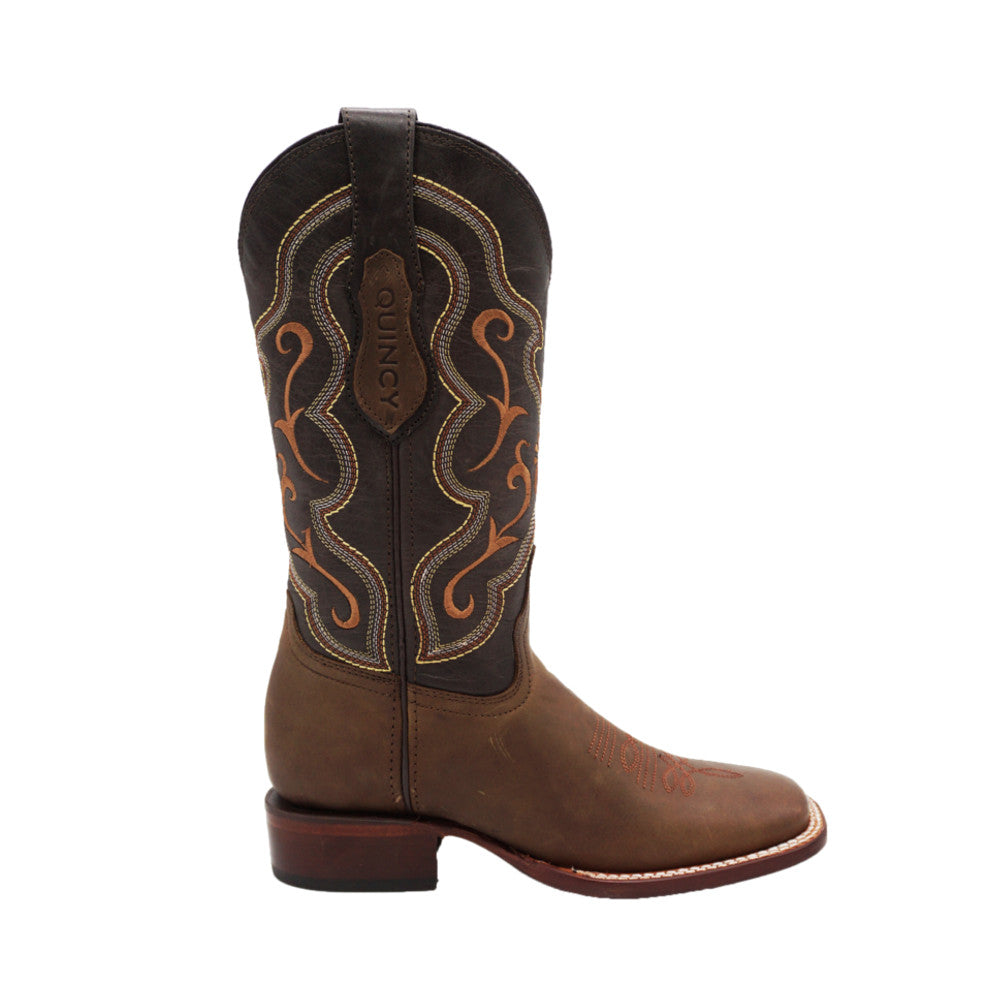 Women's Quincy Wide Square Toe 3225459 - Grasso Tobacco