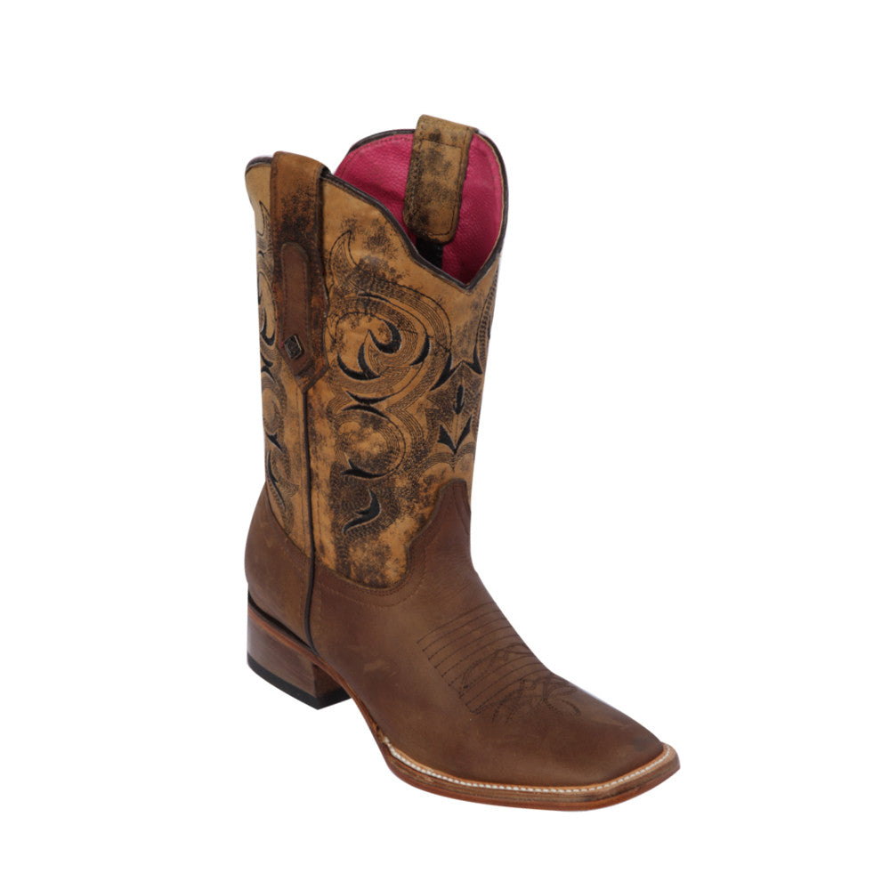 Women's Quincy Wide Square Toe 322E6251 - Crazy Honey