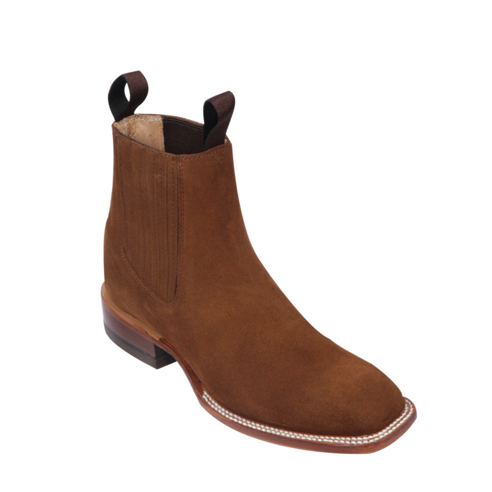 Botin Quincy Square Toe Suede 68B6350 - Shedron