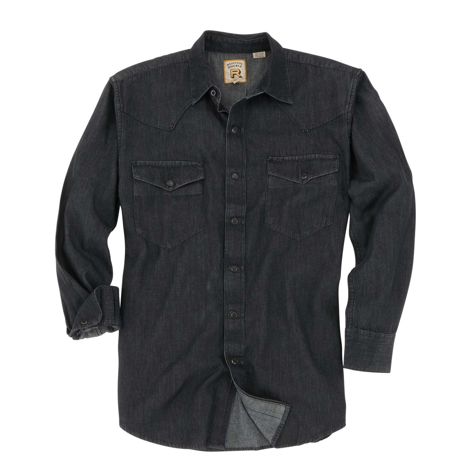 "Resistol ""Rawlings"" Long Sleeve Shirt - Black Denim"