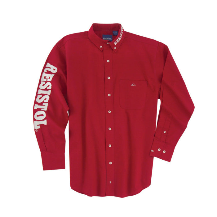 "Resistol ""Marketing Button Down"" Long Sleeve Shirt - Red"