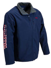 Load image into Gallery viewer, Resistol Softshell Navy American Jacket