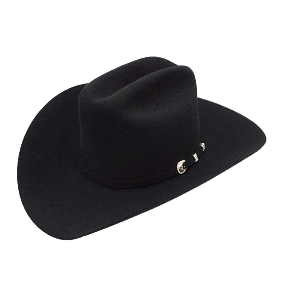 Stetson 10x Shasta Tall Crown Felt Hat - Black