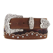 "Load image into Gallery viewer, Tony Lama C50499 ""Kaitlyn Crystal"" Women's Belt - Aged Bark"