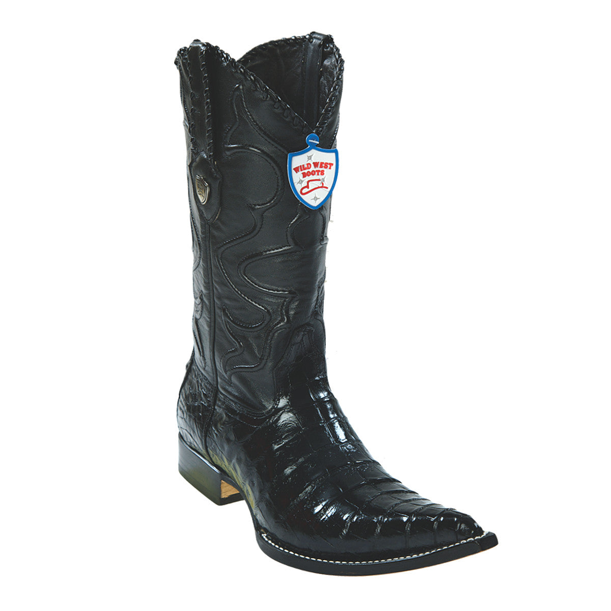 Wild West Boots H95 3x Toe Caiman Belly - Black