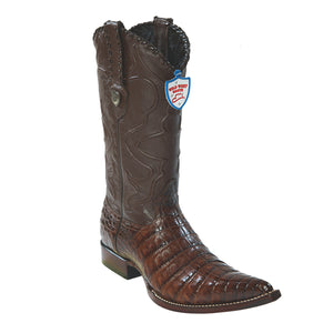 Wild West Boots H95 3x Toe Caiman Belly - Brown