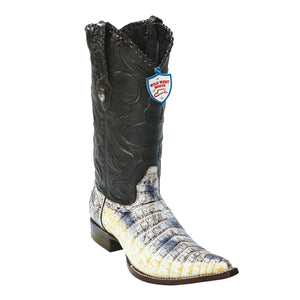 Wild West Boots H95 3x Toe Caiman Belly - Natural