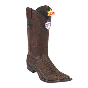 Wild West Boots 3x Toe Caiman Belly