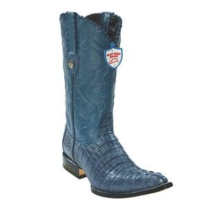 Wild West Boots H95 3x Toe Caiman Tail - Blue Jean