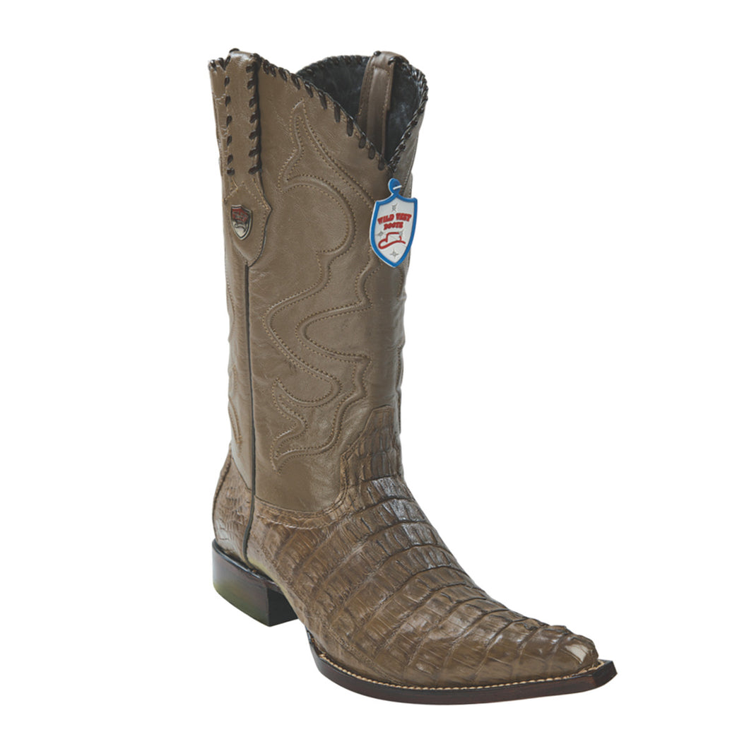 Wild West Boots H95 3x Toe Caiman Tail - Mink