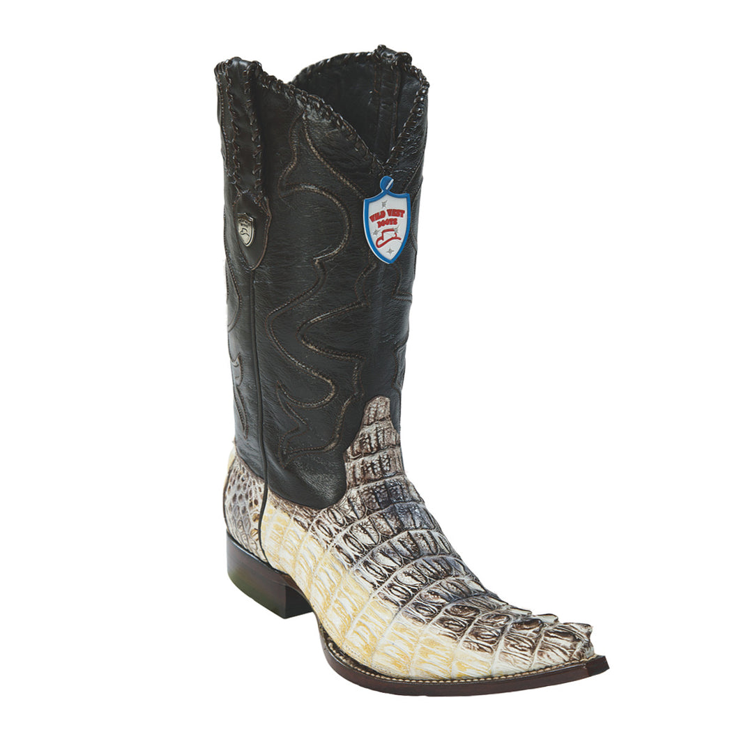 Wild West Boots H95 3x Toe Caiman Tail - Natural