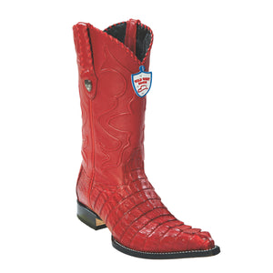 Wild West Boots H95 3x Toe Caiman Tail - Red