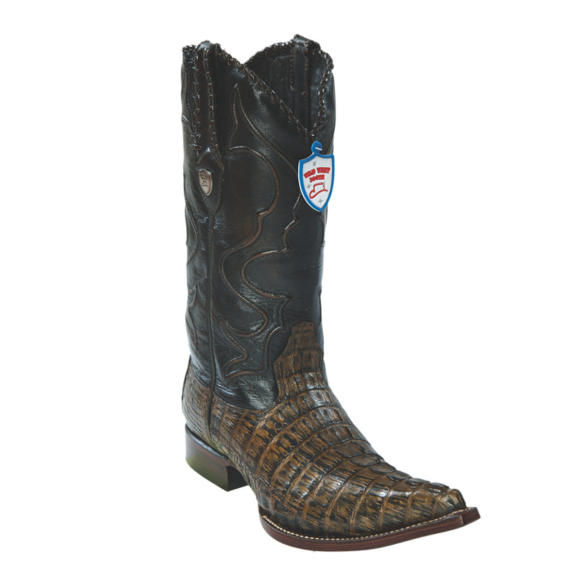 Wild West Boots 3x Toe Caiman Tail