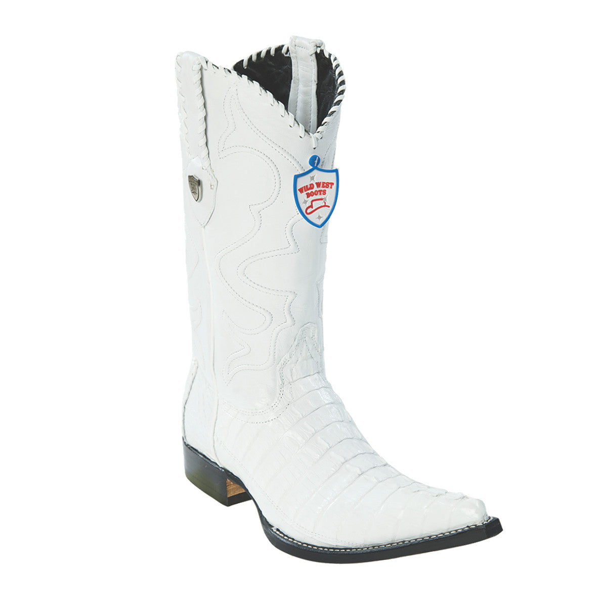 Wild West Boots H95 3x Toe Caiman Tail - White