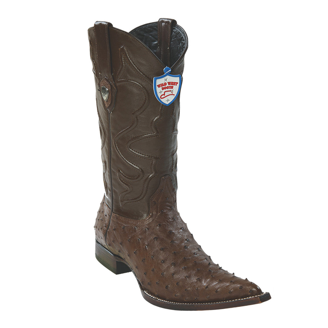 Wild West Boots H95 3x Toe Ostrich - Brown