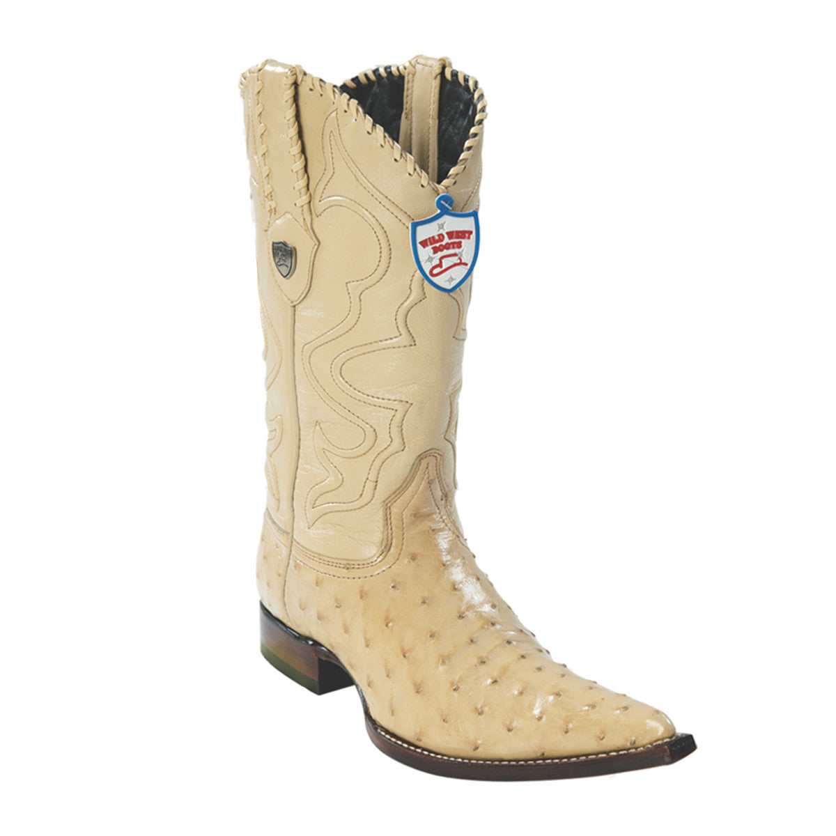 Wild West Boots H95 3x Toe Ostrich - Oryx