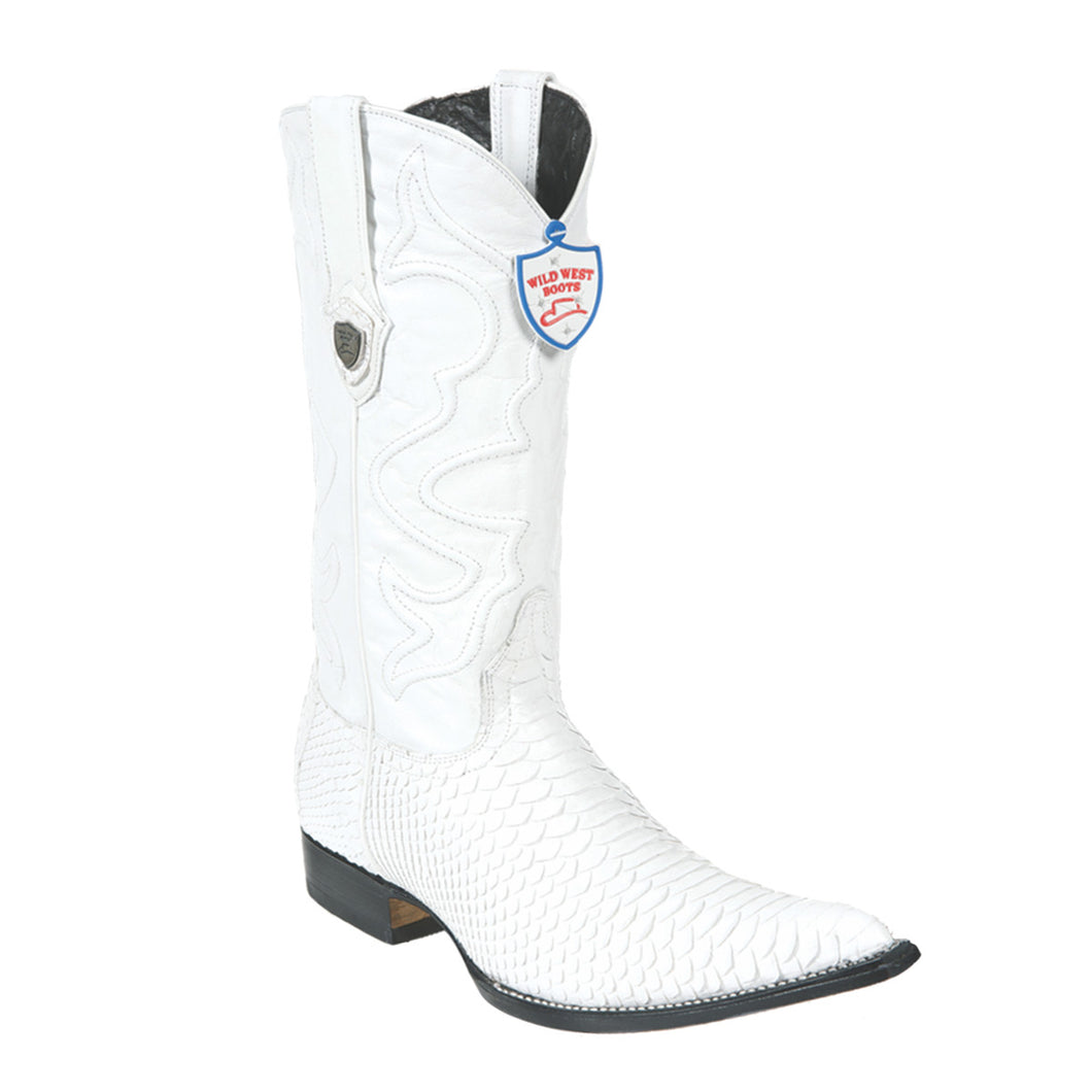 Wild West Boots H95 3x Toe Python - White