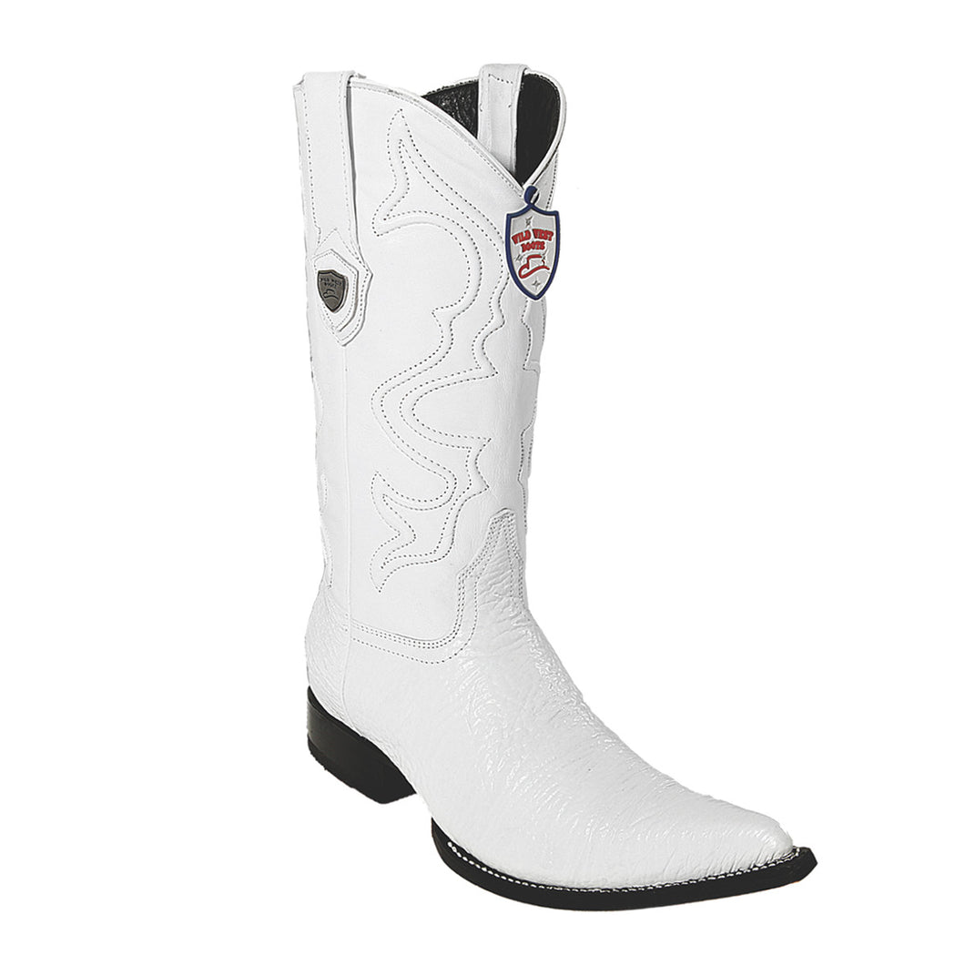 Wild West Boots H95 3x Toe Shark - White