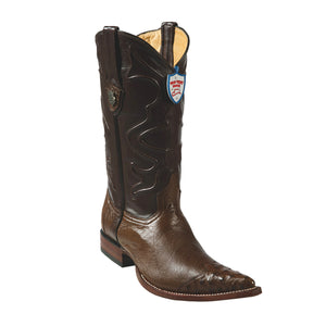 Wild West Boots 3x Toe Smooth Ostrich Wing Tip