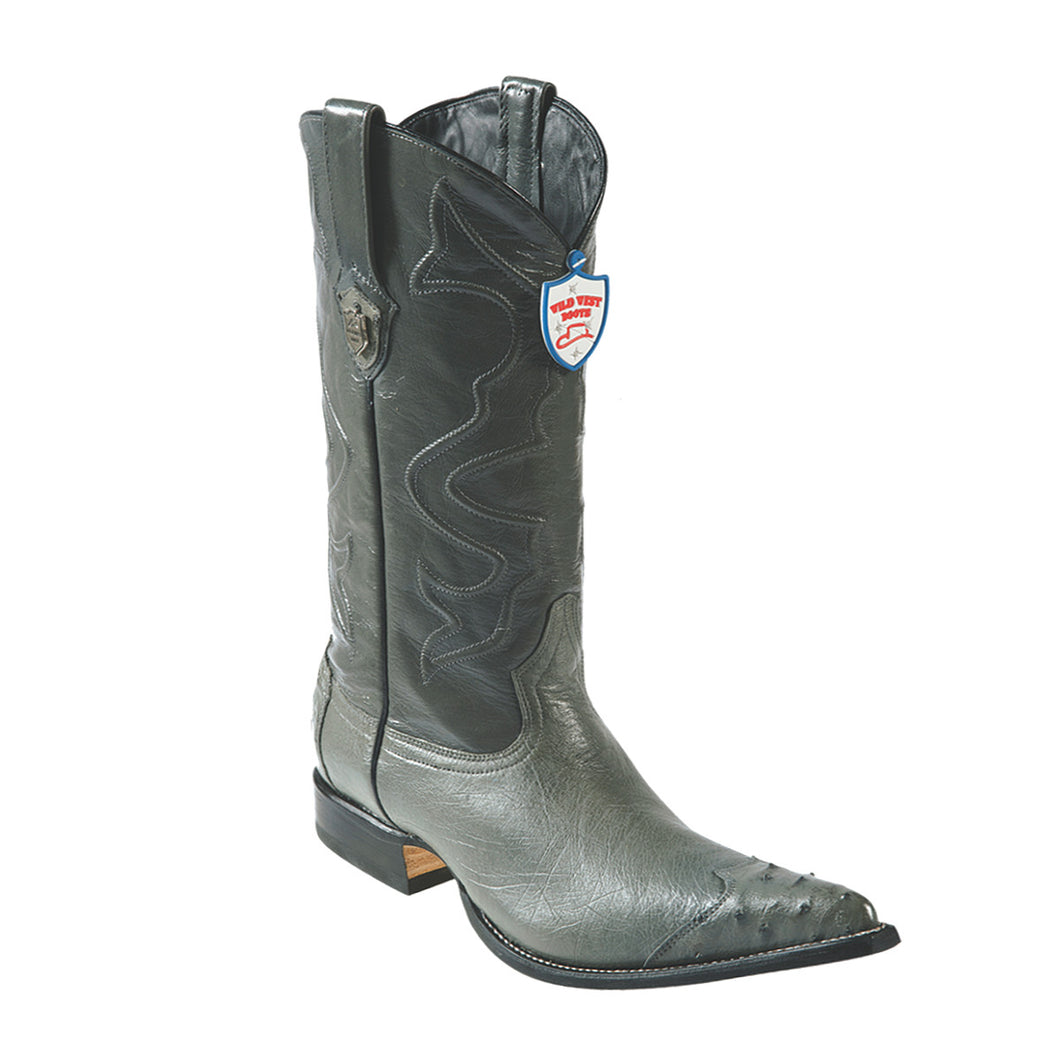 Wild West Boots H95 3x Toe Smooth Ostrich - Grey