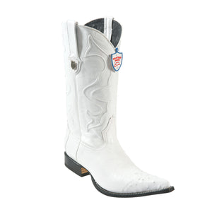 Wild West Boots H95 3x Toe Smooth Ostrich - White
