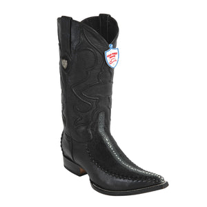 Wild West Boots 3x Toe Stingray/Deer Rowstone