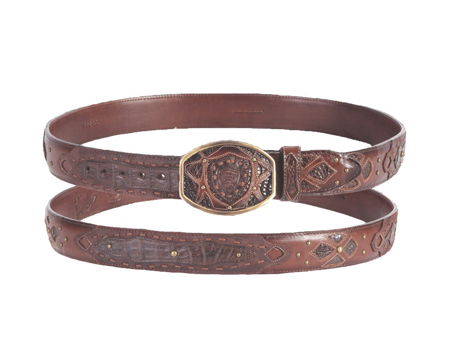 Wild West Boots Caiman Belly Fashion Belt