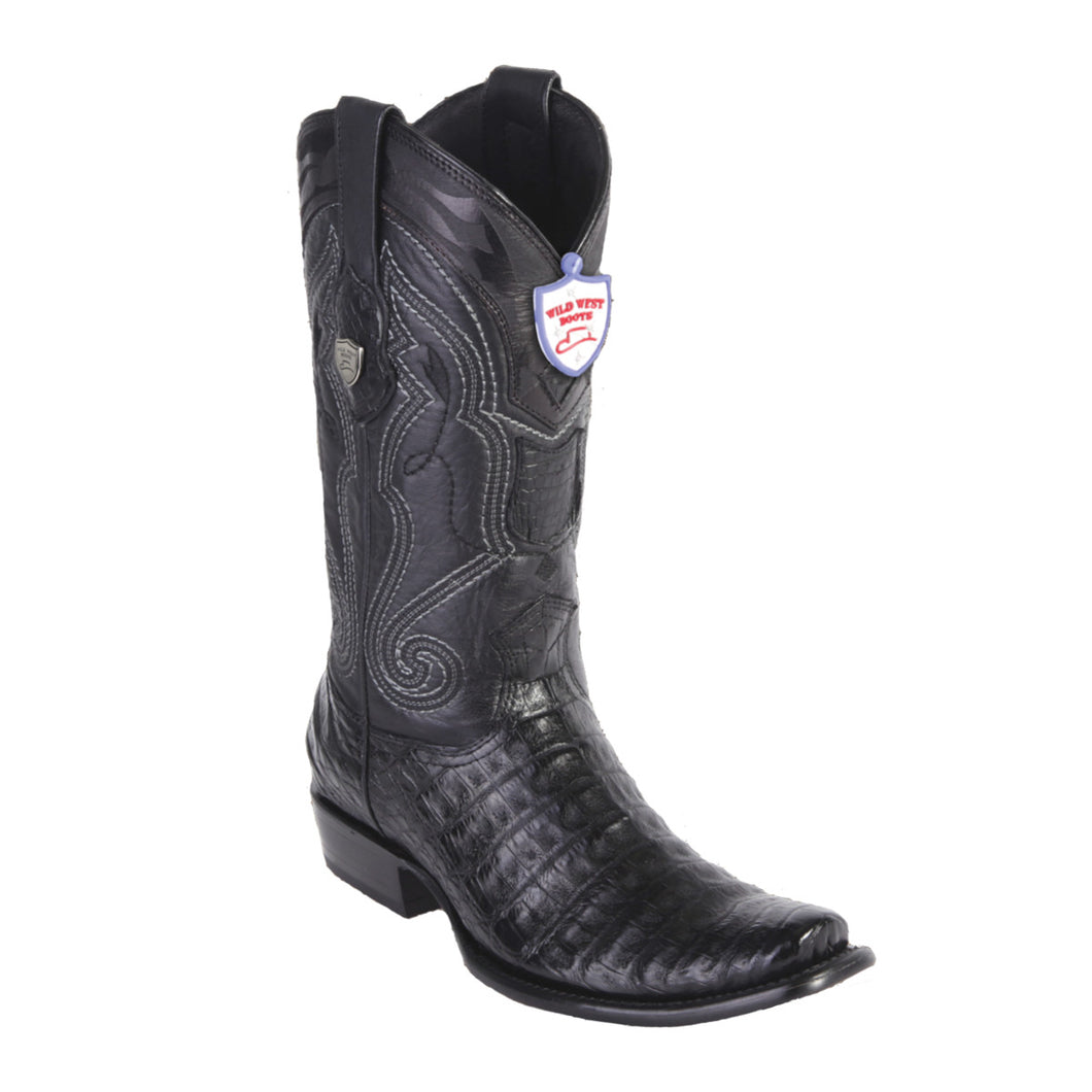 Wild West Boots H79 Dubai Boot Caiman Belly - Black