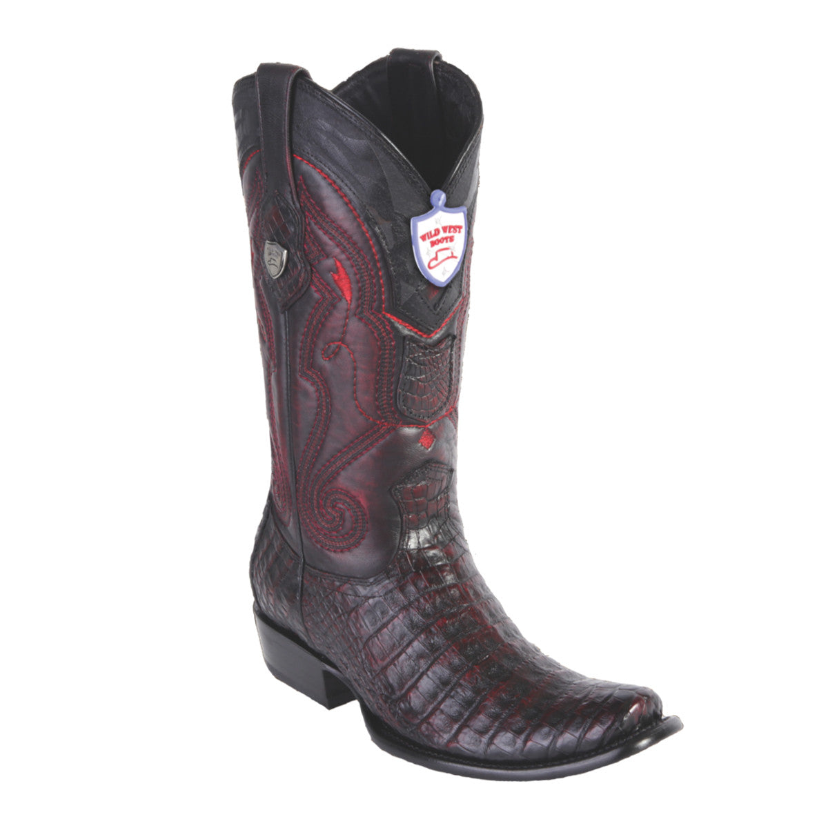 Wild West Boots H79 Dubai Boot Caiman Belly - Black Cherry