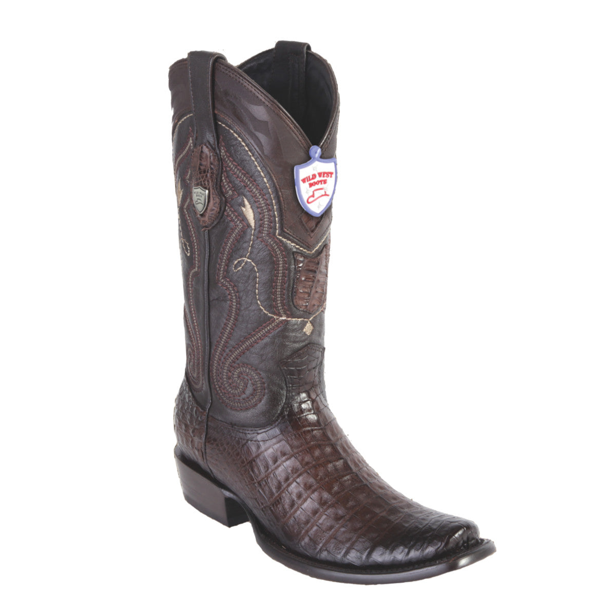 Wild West Boots H79 Dubai Boot Caiman Belly - Faded Brown