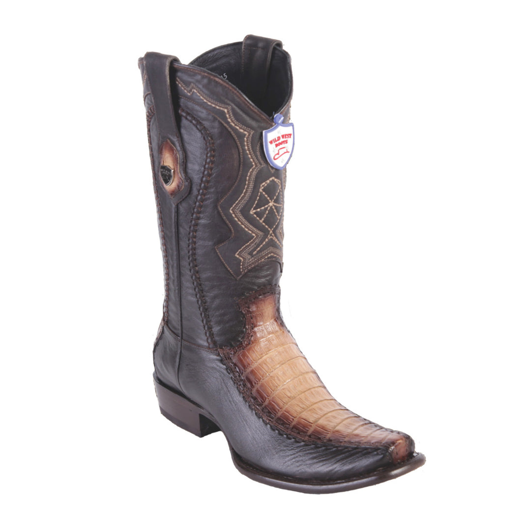 Wild West Boots H79F Dubai Boot Caiman Belly - Faded Oryx