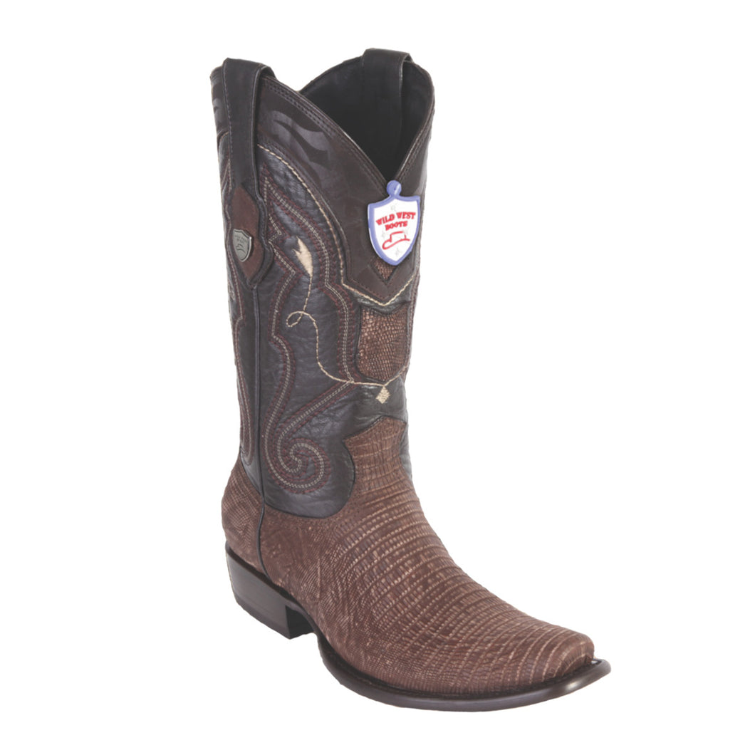 Wild West Boots H79 Dubai Boot Lizard - Sanded Brown