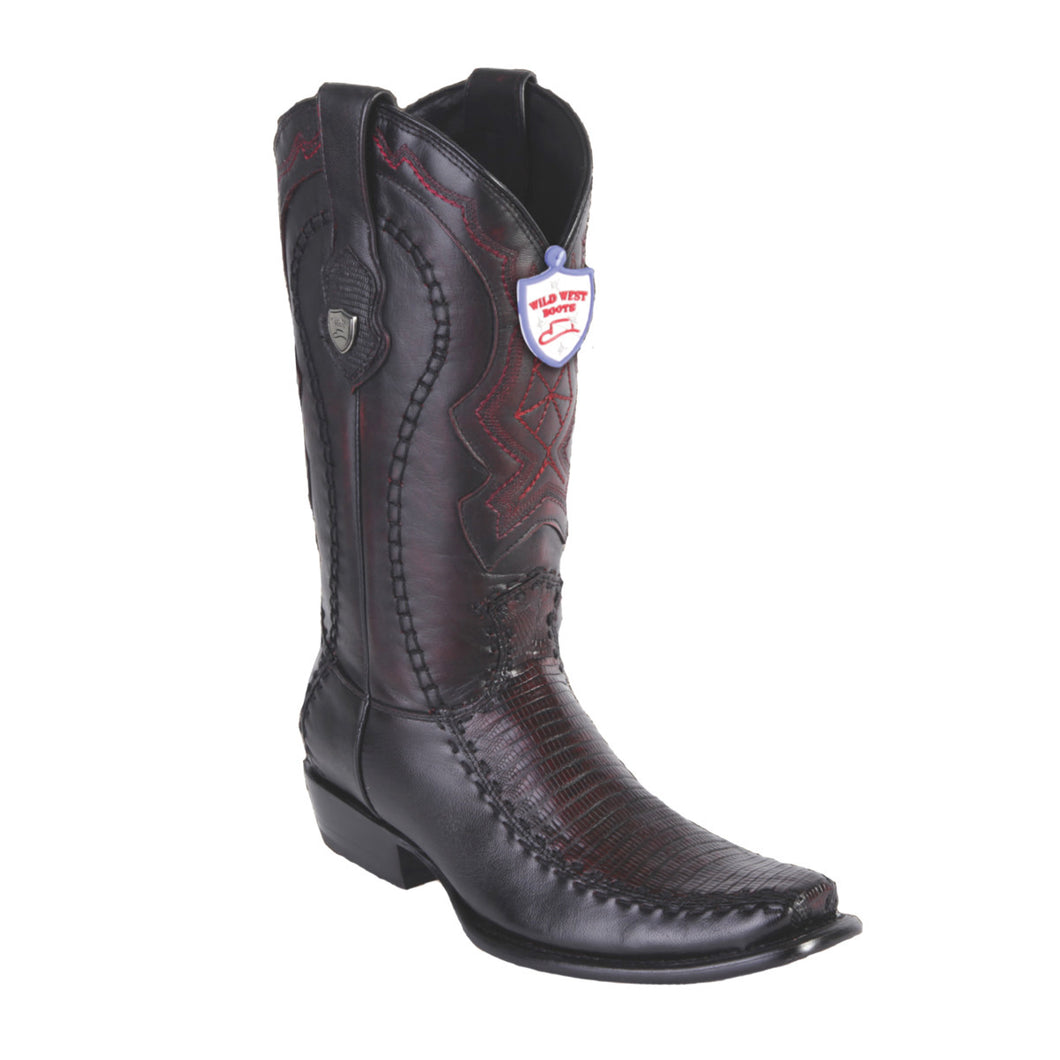 Wild West Boots H79F Dubai Boot Lizard - Black Cherry