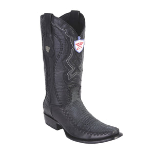 Wild West Boots H79F Dubai Boot Lizard - Sanded Black