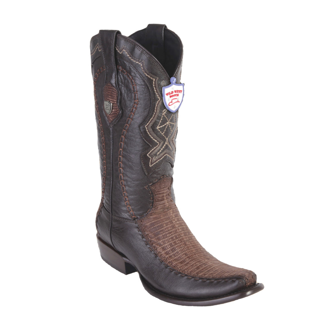 Wild West Boots H79F Dubai Boot Lizard - Sanded Brown