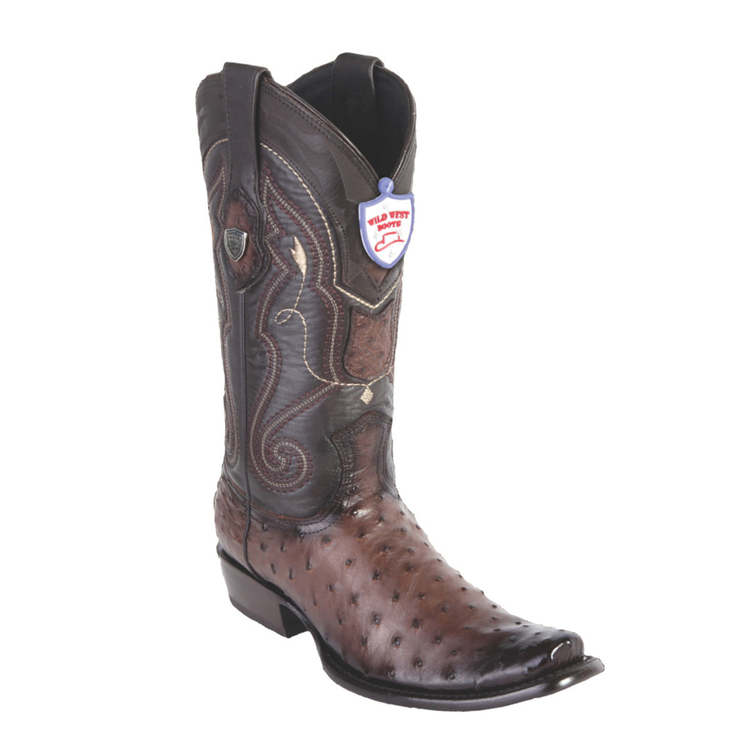 Wild West Boots H79 Dubai Boot Ostrich - Faded Brown