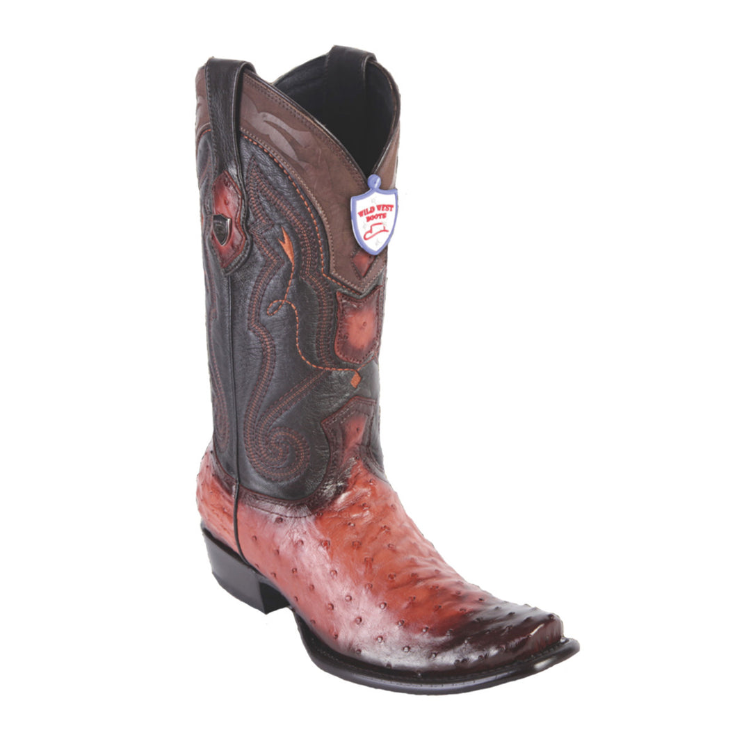 Wild West Boots H79 Dubai Boot Ostrich - Faded Cognac