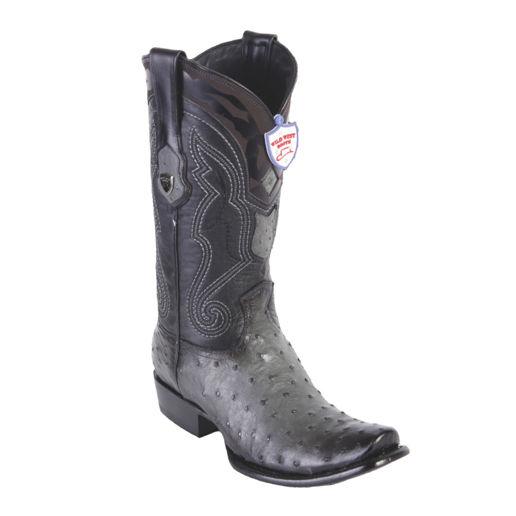 Wild West Boots H79 Dubai Boot Ostrich - Faded Gray