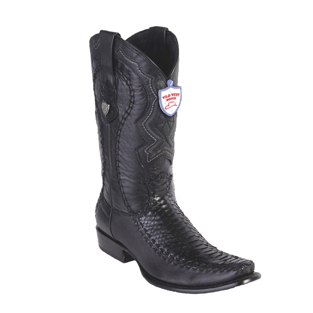 Wild West Boots H79F Dubai Boot Python - Black