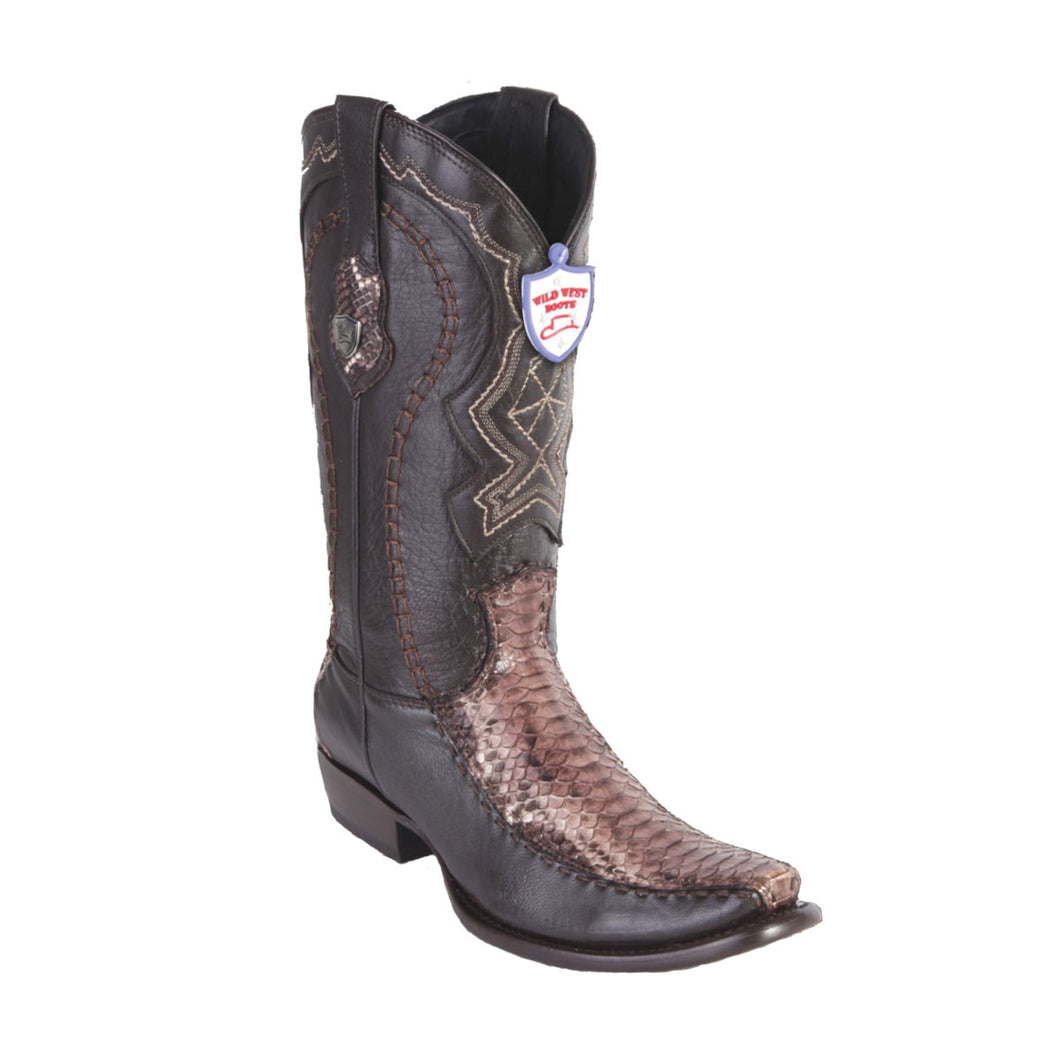 Wild West Boots H79F Dubai Boot Python - Rustic Brown