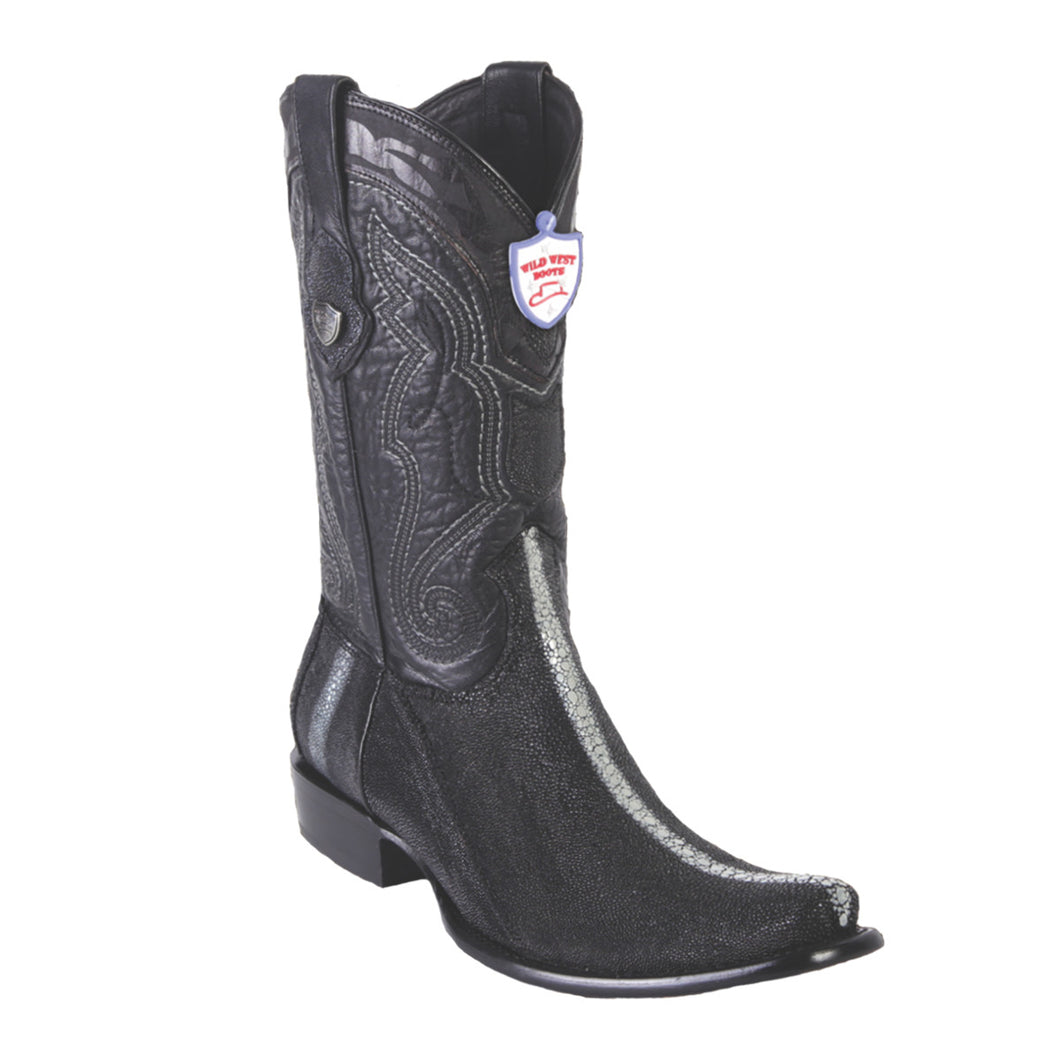 Wild West Boots H79 Dubai Boot Stingray Rowstone - Black