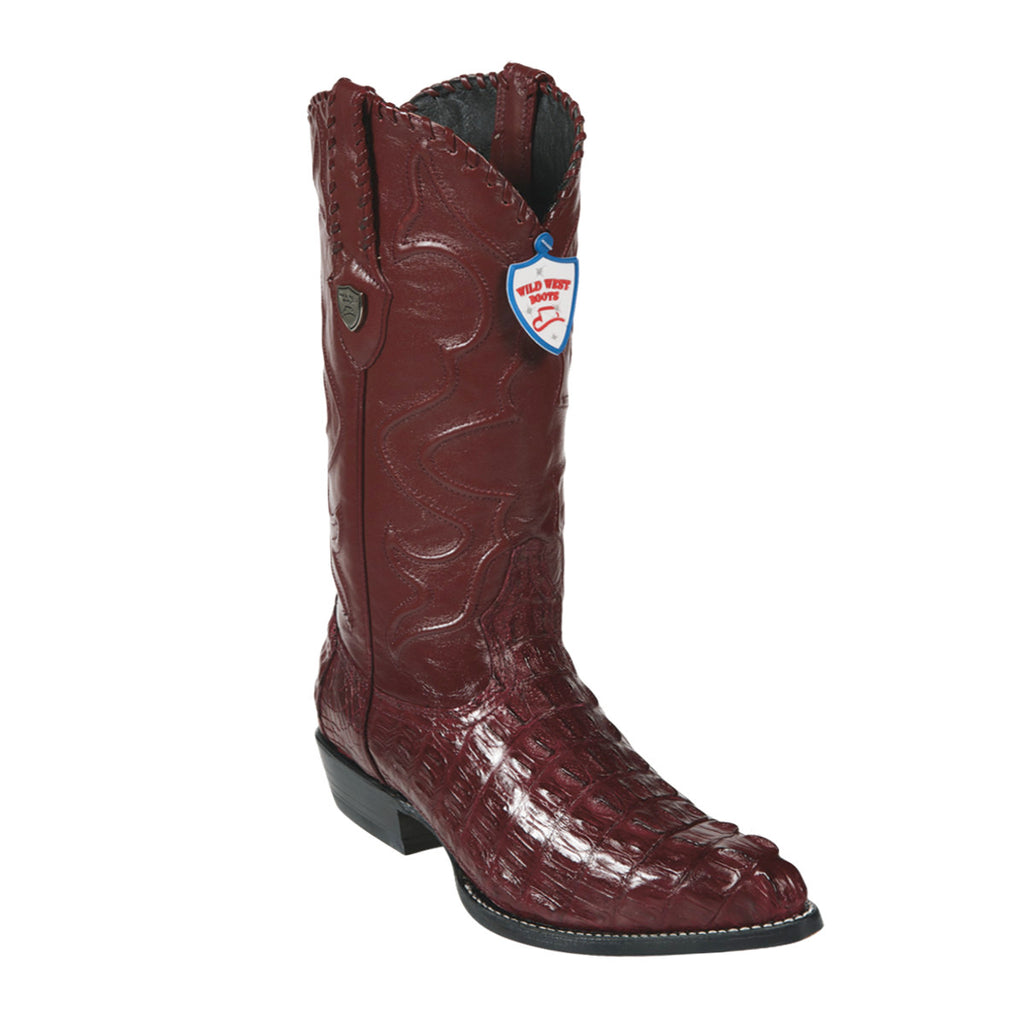 Wild West Boots J-Toe Caiman Tail