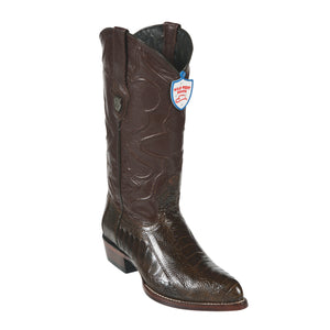 Wild West Boots H99 J-Toe Ostrich Leg - Brown