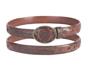 Wild West Boots Lizard Fashion Belt
