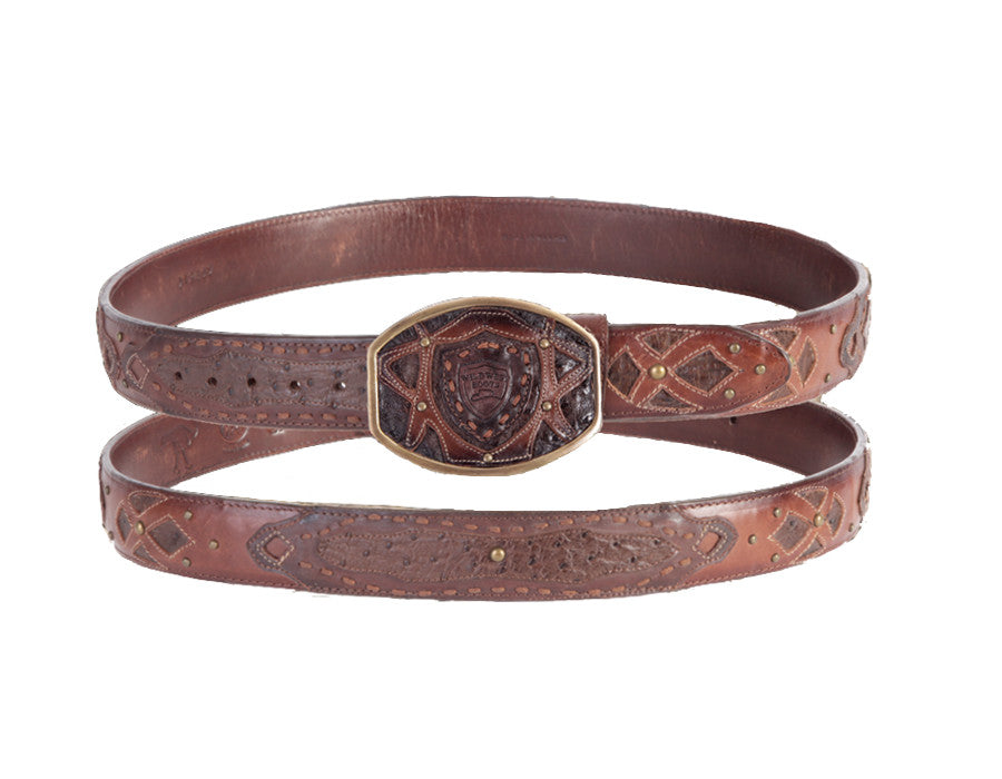 Wild West Boots Ostrich Fashion Belt