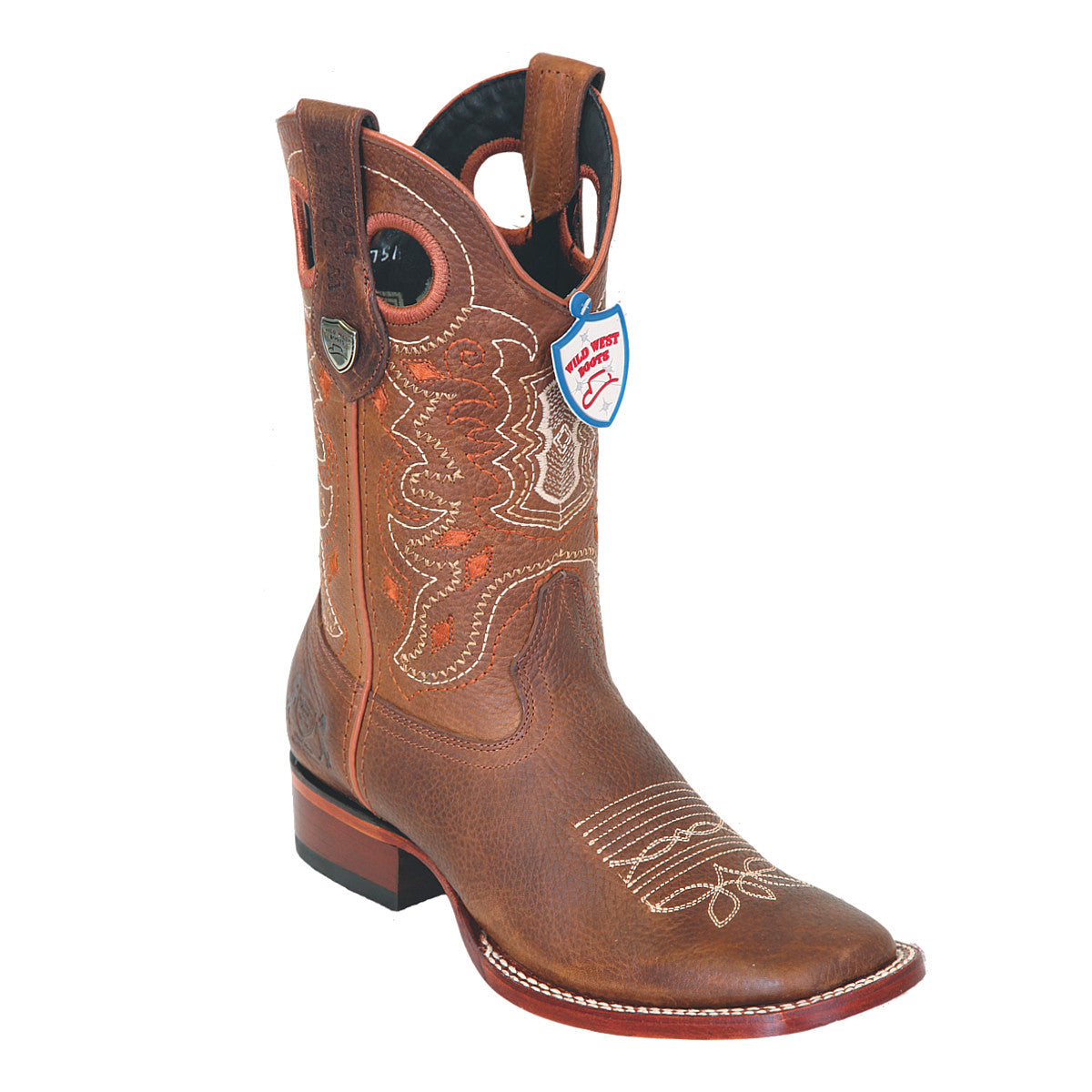 Wild West Boots Wide Square Toe Grisly