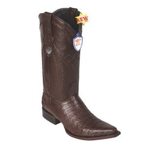 Wild West Boots H94 Snip Toe Caiman Belly - Brown